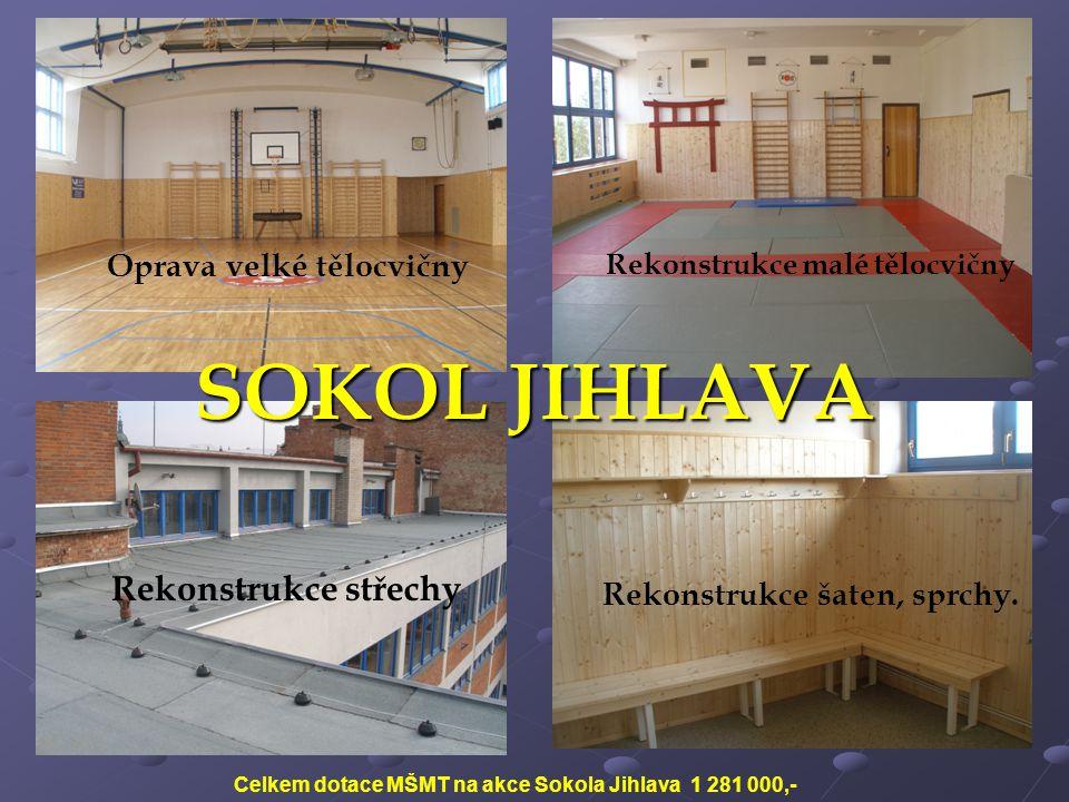 SOKOL JIHLAVA Rekonstrukce střechy Oprava velké tělocvičny