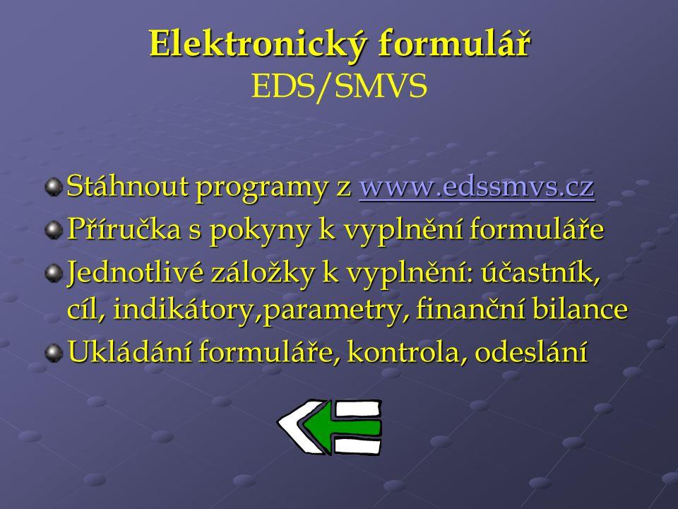 Elektronický formulář EDS/SMVS
