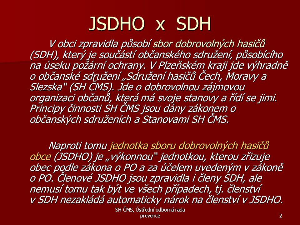 SH ČMS, Ústřední odborná rada prevence