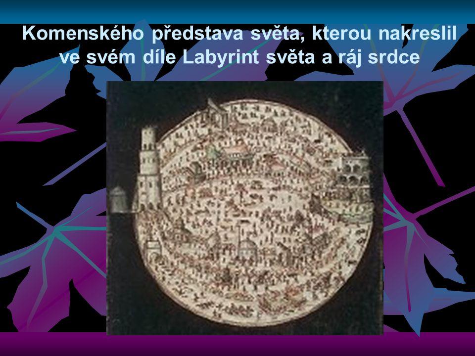 Komenského představa světa, kterou nakreslil ve svém díle Labyrint světa a ráj srdce