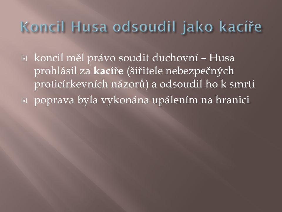 Koncil Husa odsoudil jako kacíře
