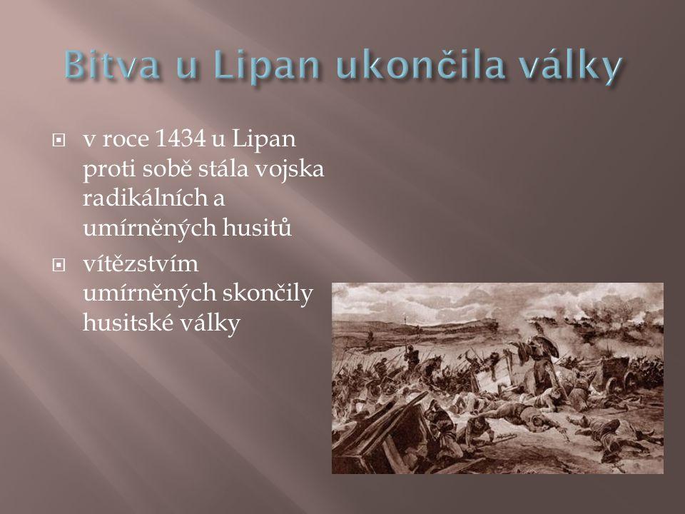 Bitva u Lipan ukončila války