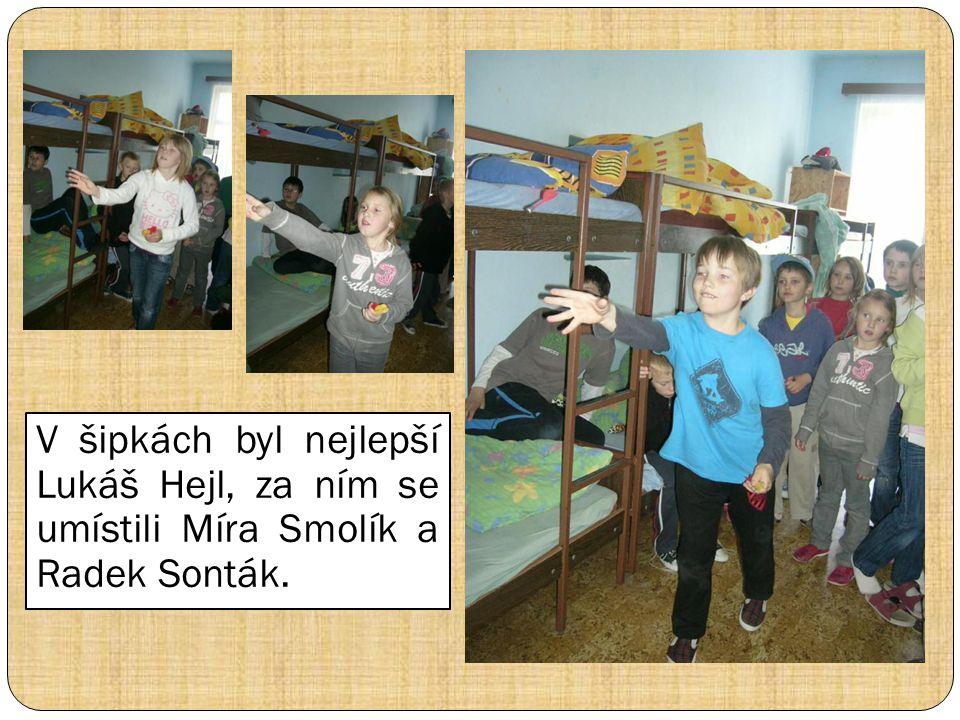 V šipkách byl nejlepší Lukáš Hejl, za ním se umístili Míra Smolík a Radek Sonták.
