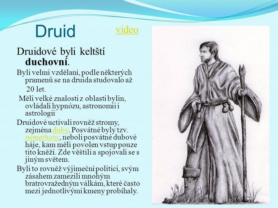 Druid video Druidové byli keltští duchovní.
