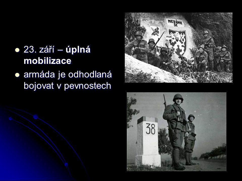 23. září – úplná mobilizace