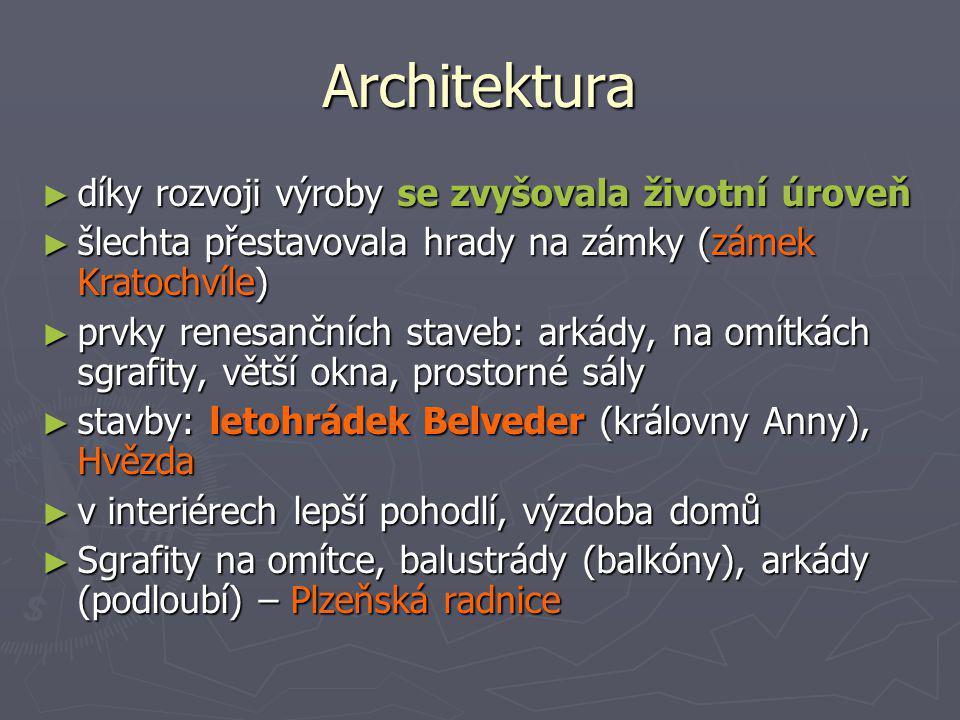 Architektura díky rozvoji výroby se zvyšovala životní úroveň