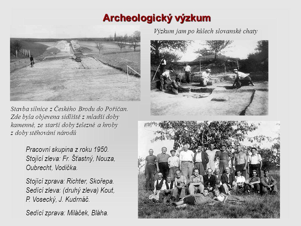 Archeologický výzkum Výzkum jam po kůlech slovanské chaty.