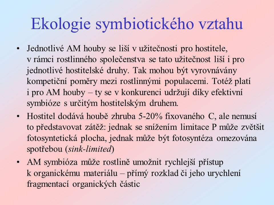Ekologie symbiotického vztahu