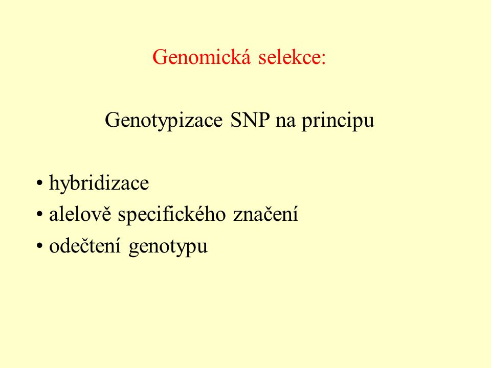 Genotypizace SNP na principu
