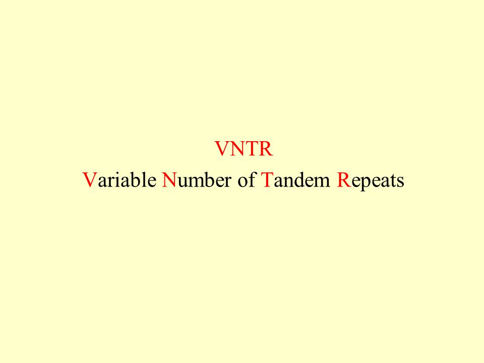 Variable Number of Tandem Repeats