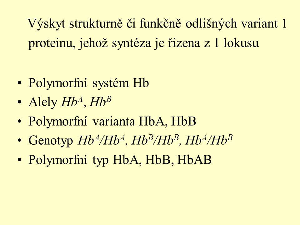 Výskyt strukturně či funkčně odlišných variant 1 proteinu, jehož syntéza je řízena z 1 lokusu