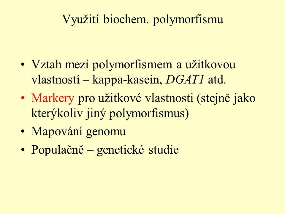 Využití biochem. polymorfismu