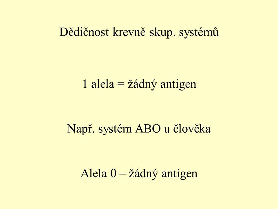 Dědičnost krevně skup. systémů