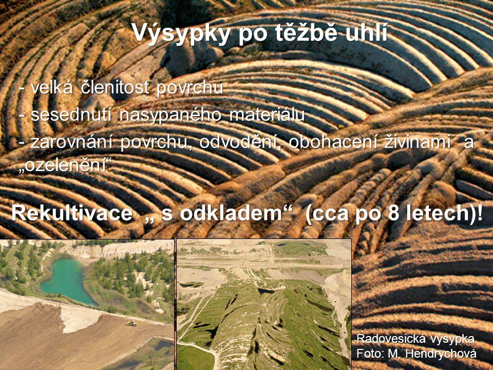 """Výsypky po těžbě uhlí Rekultivace """" s odkladem (cca po 8 letech)!"""
