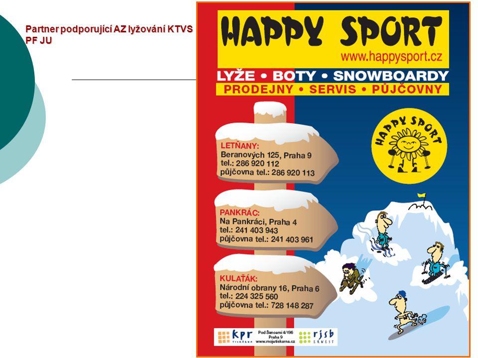 Partner podporující AZ lyžování KTVS PF JU