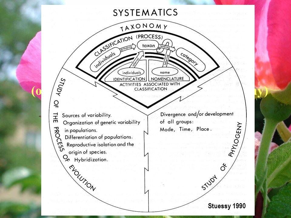 Stuessy 1990 Systematika. věda o diverzitě organizmů (o jejich variabilitě a vztazích mezi taxony)