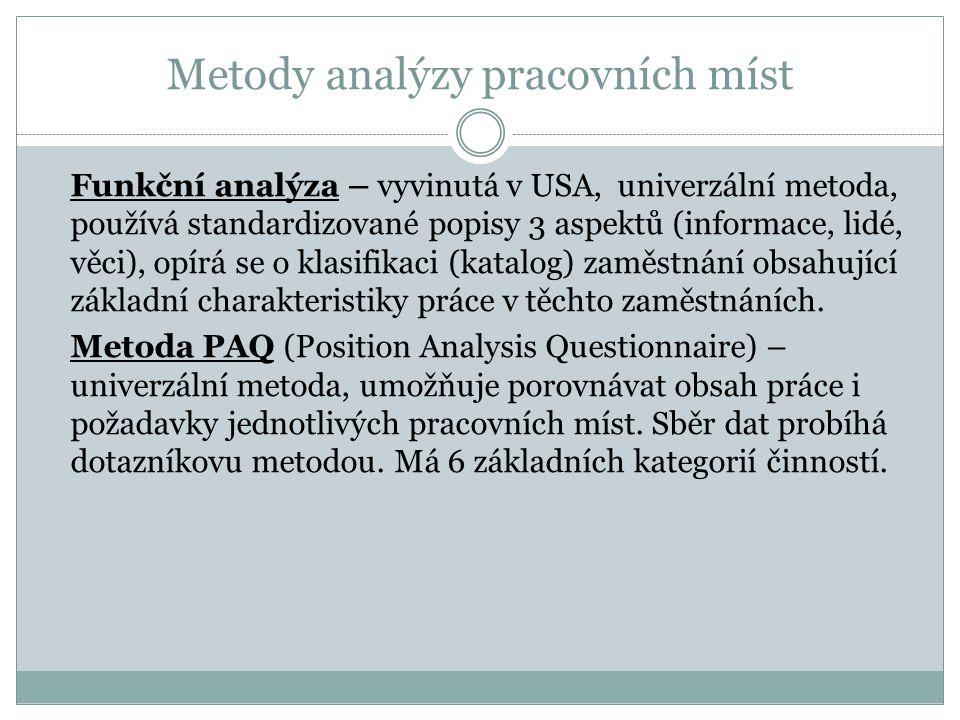Metody analýzy pracovních míst