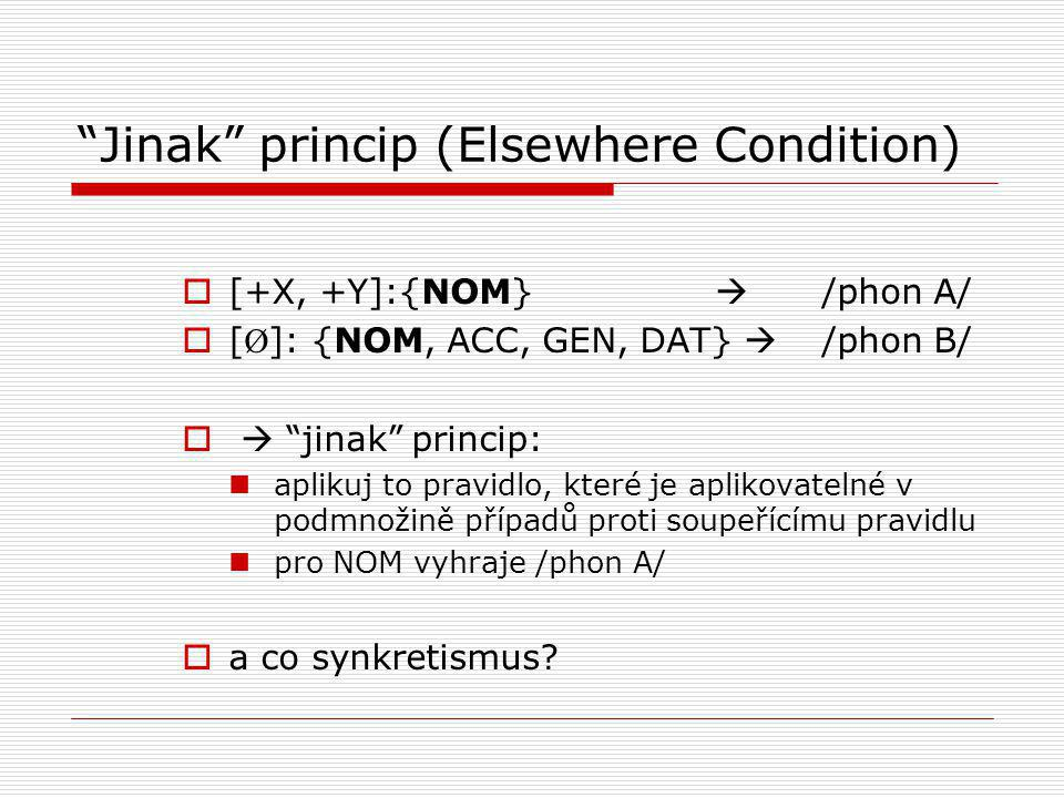 Jinak princip (Elsewhere Condition)