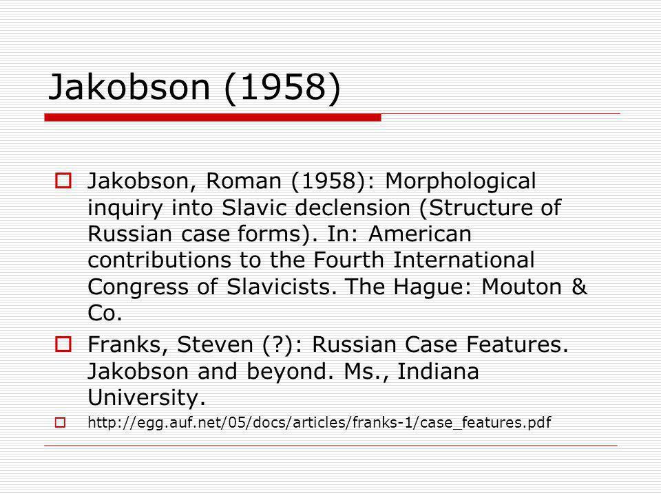 Jakobson (1958)