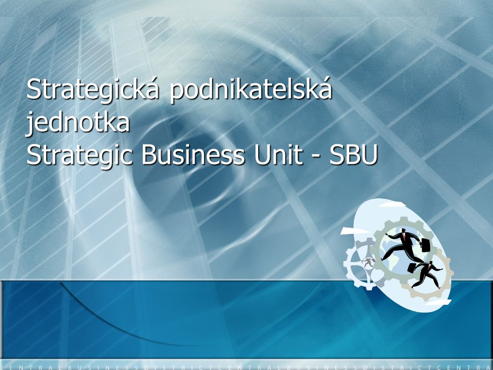 Strategická podnikatelská jednotka Strategic Business Unit - SBU