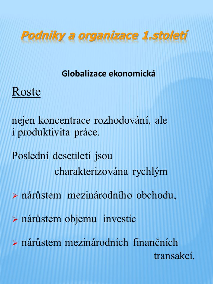 Globalizace ekonomická