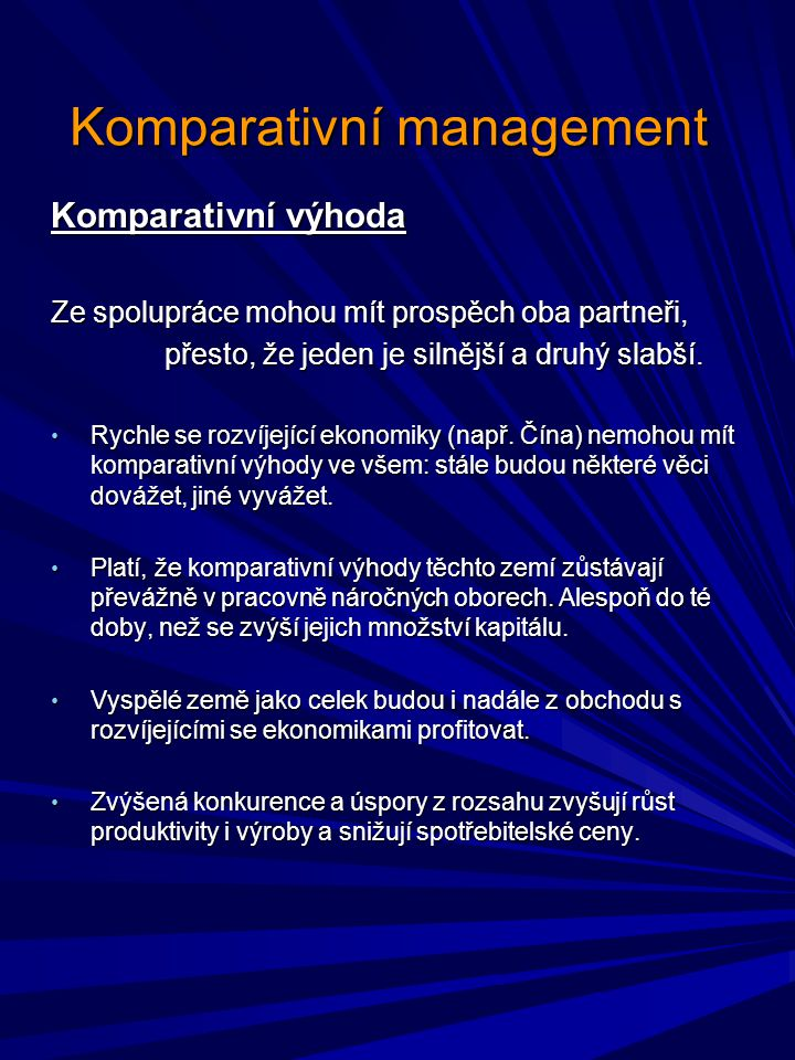 Komparativní management