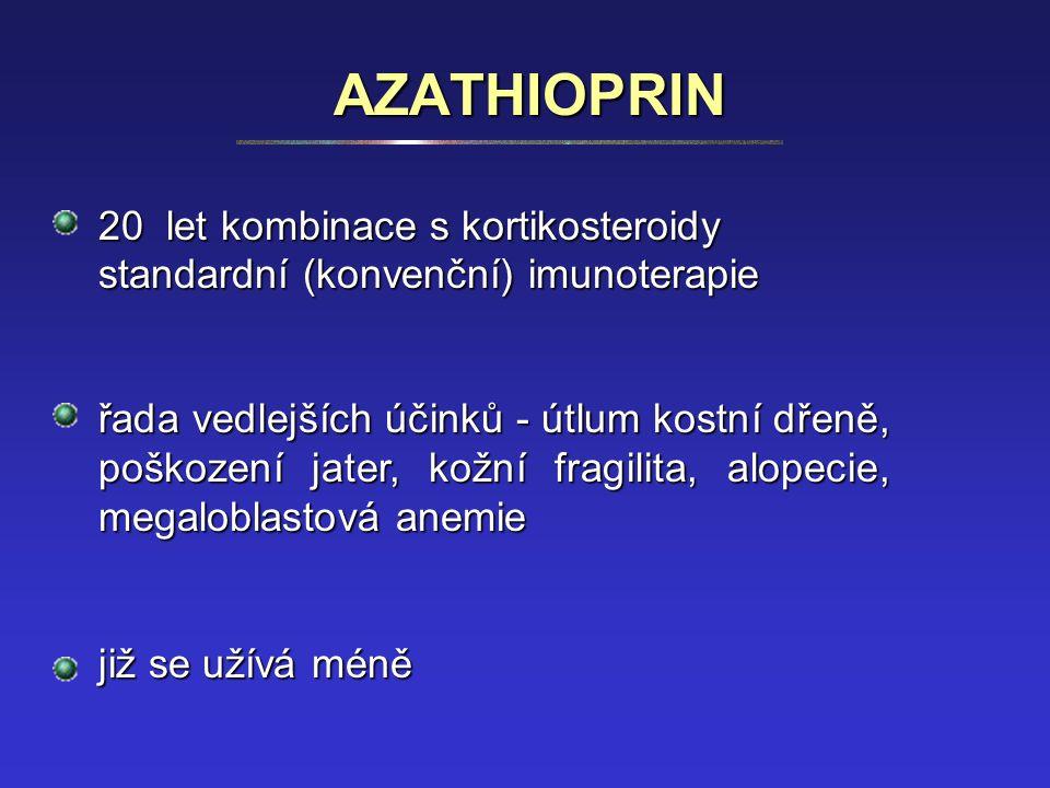 AZATHIOPRIN 20 let kombinace s kortikosteroidy