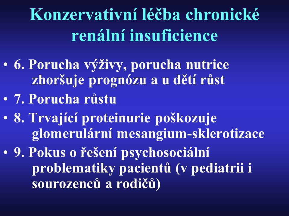 Konzervativní léčba chronické renální insuficience