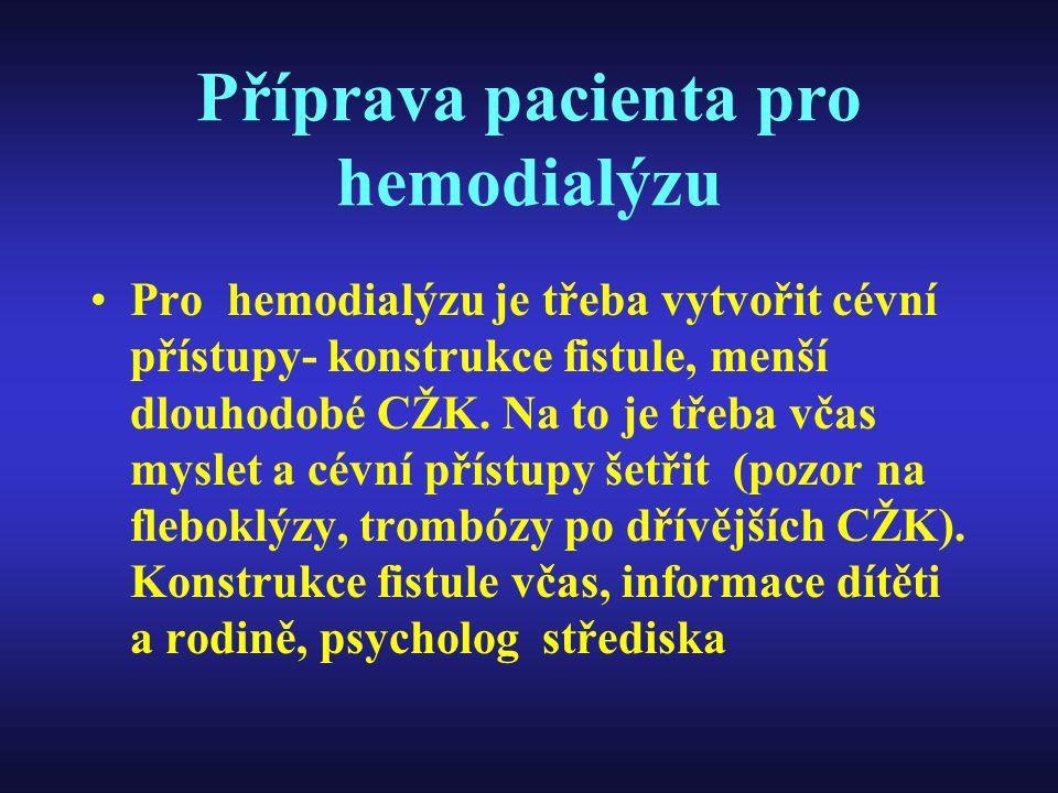 Příprava pacienta pro hemodialýzu