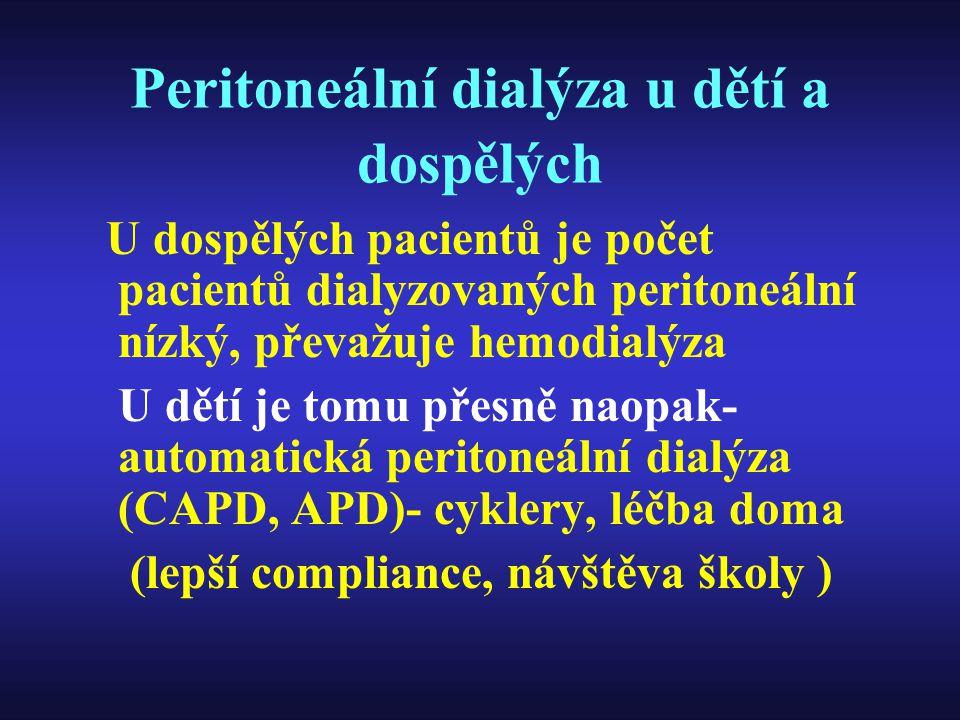 Peritoneální dialýza u dětí a dospělých