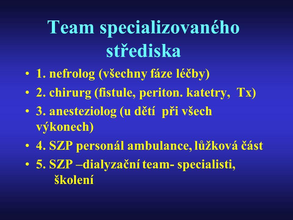 Team specializovaného střediska