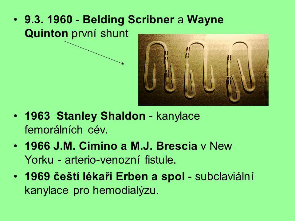9.3. 1960 - Belding Scribner a Wayne Quinton první shunt