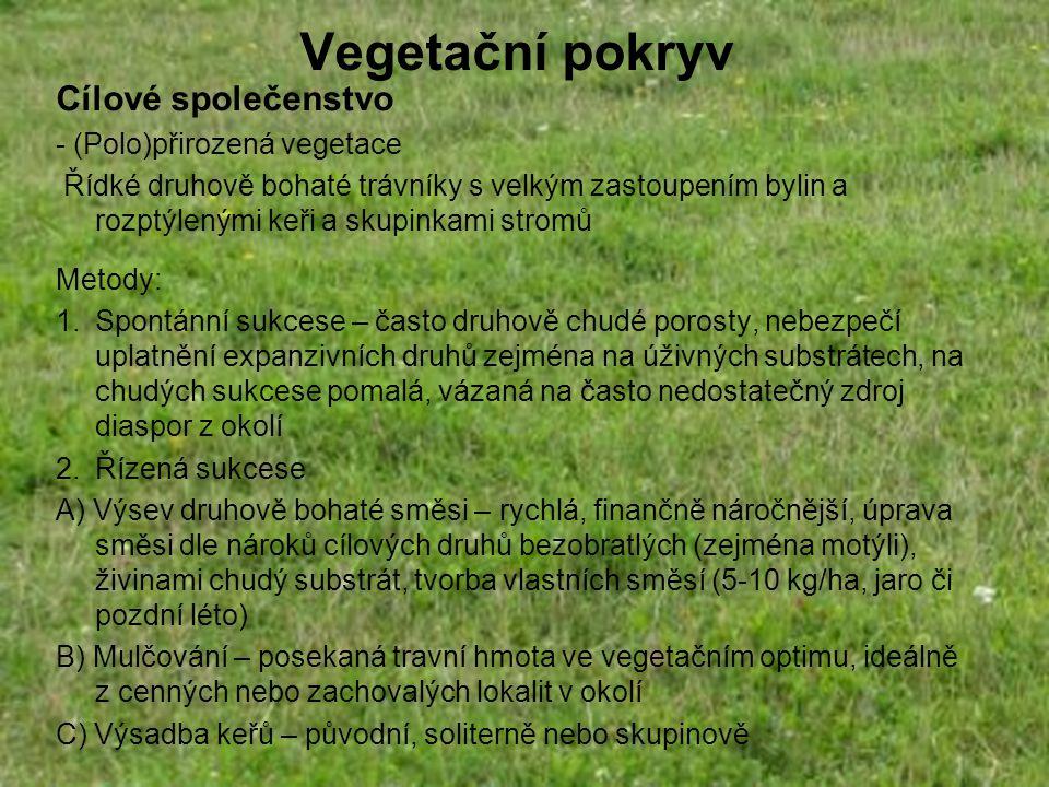 Vegetační pokryv Cílové společenstvo - (Polo)přirozená vegetace