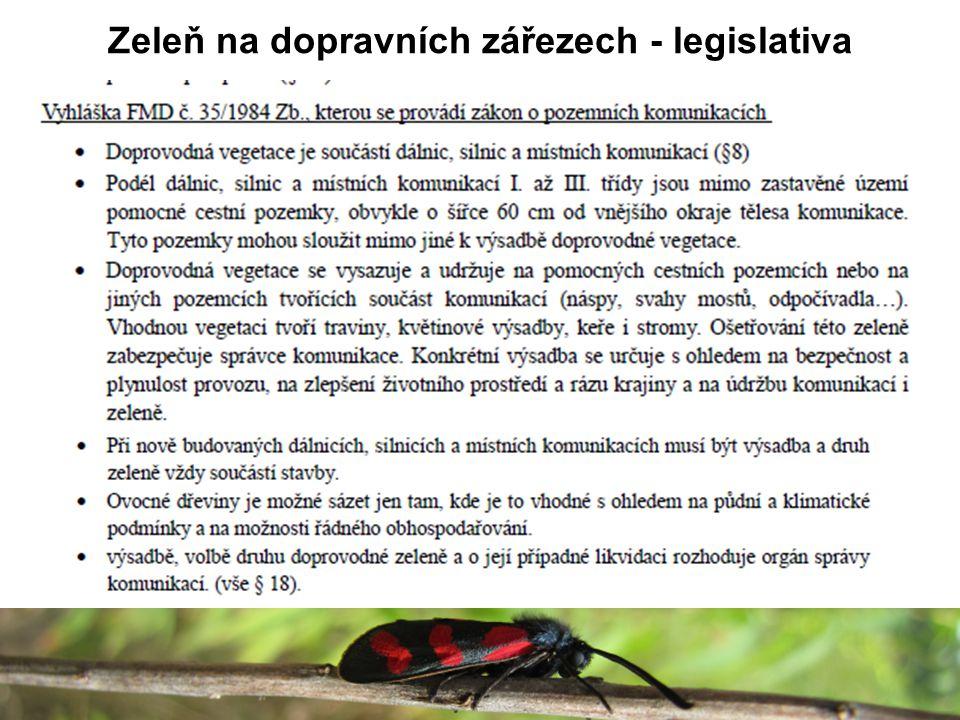 Zeleň na dopravních zářezech - legislativa