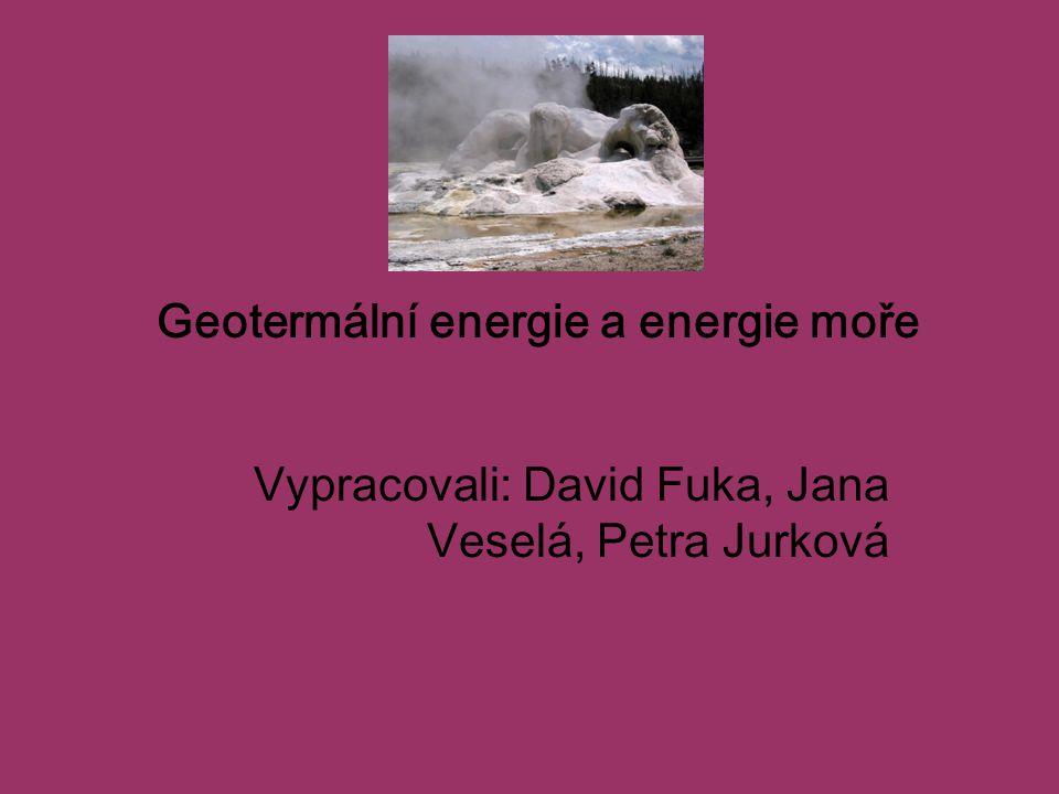 Geotermální energie a energie moře