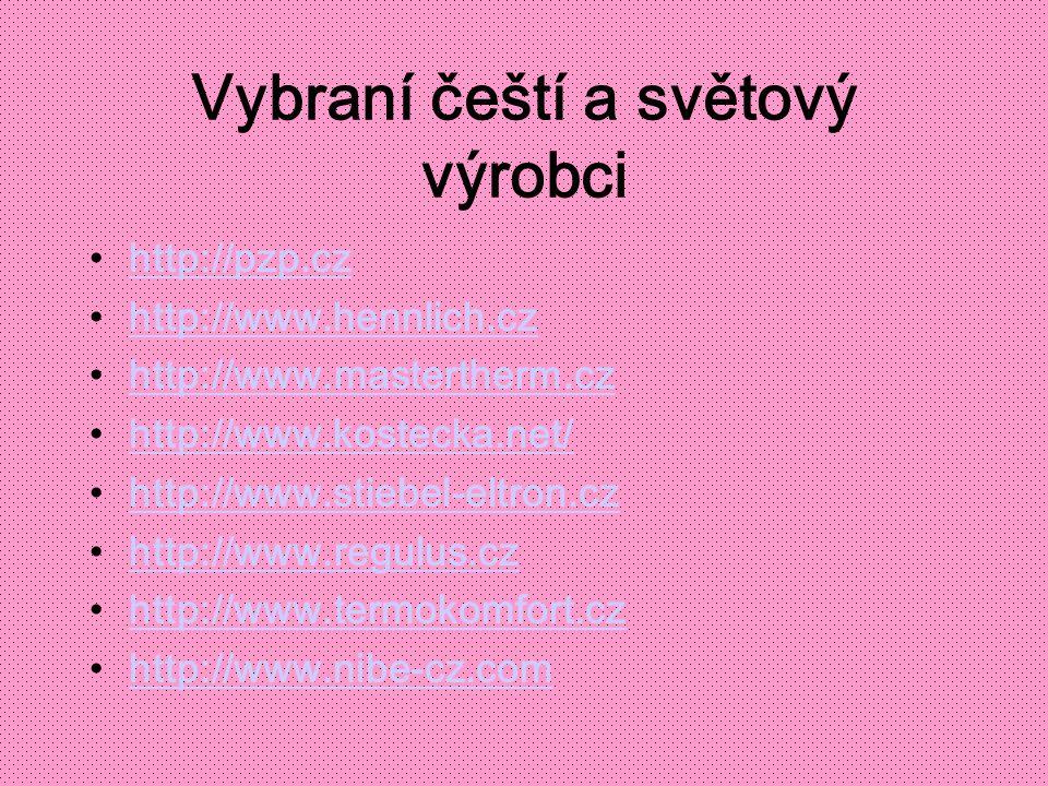 Vybraní čeští a světový výrobci