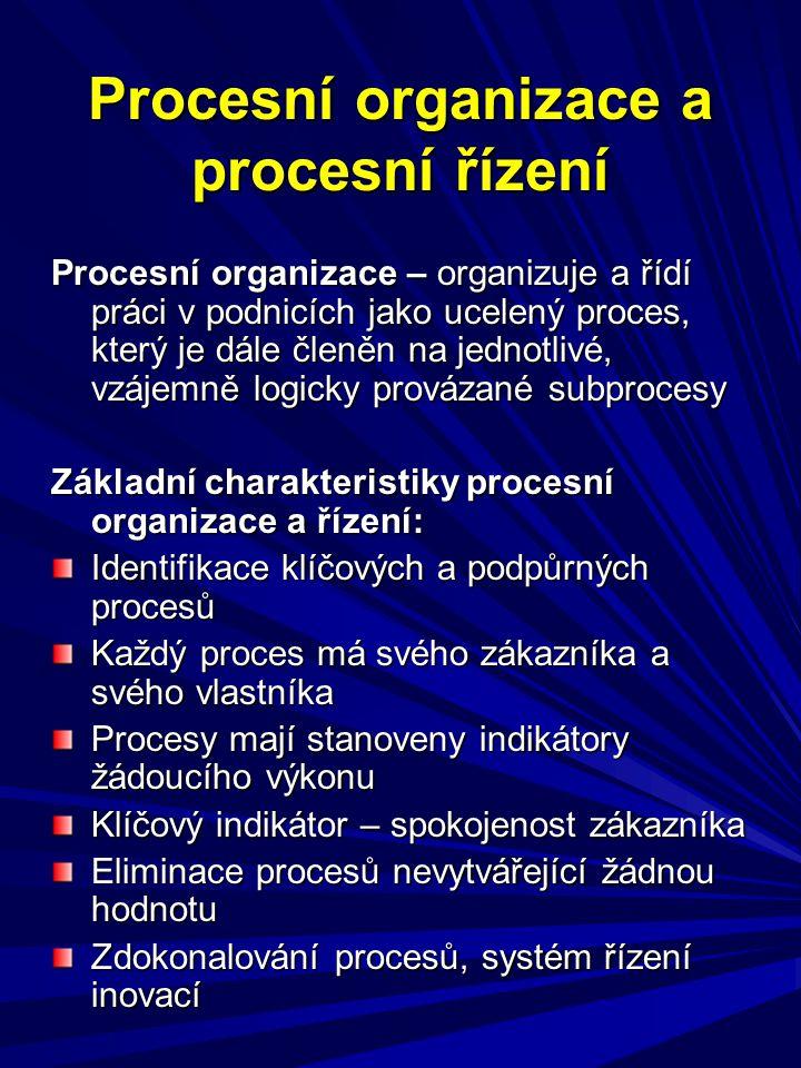 Procesní organizace a procesní řízení