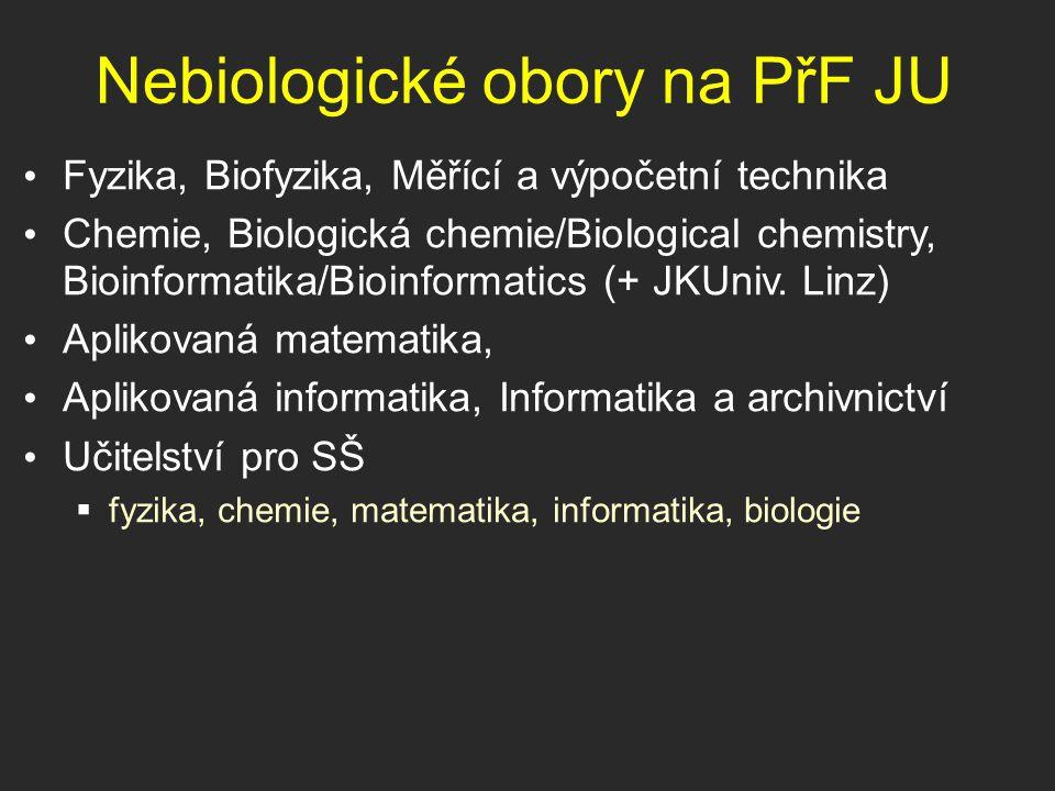 Nebiologické obory na PřF JU