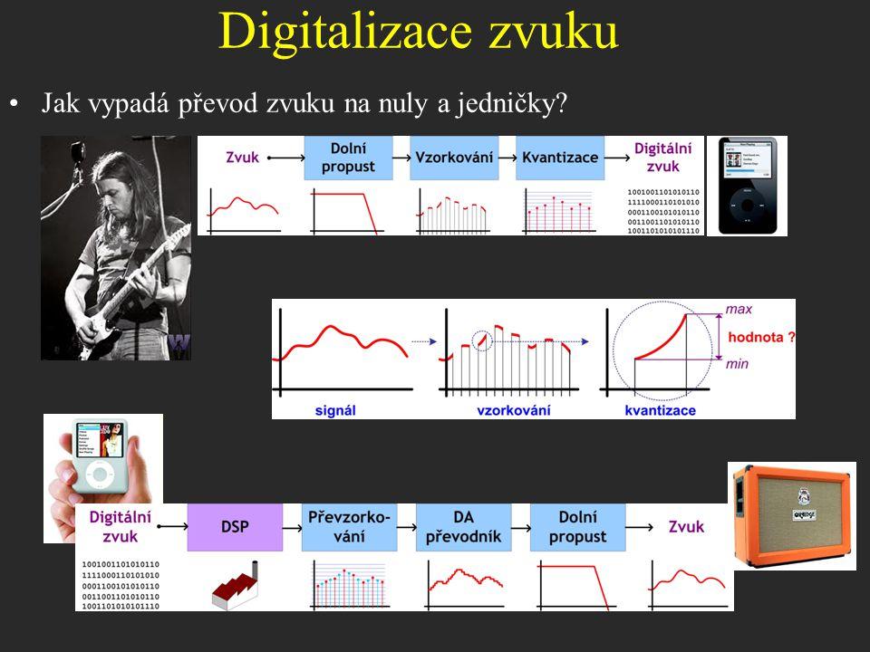Digitalizace zvuku Jak vypadá převod zvuku na nuly a jedničky