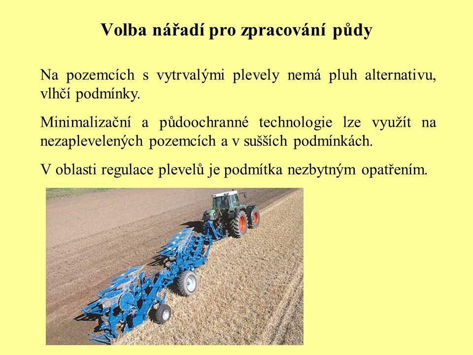 Volba nářadí pro zpracování půdy