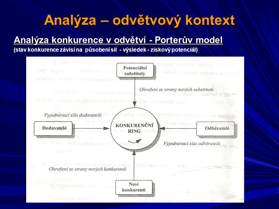 Analýza – odvětvový kontext