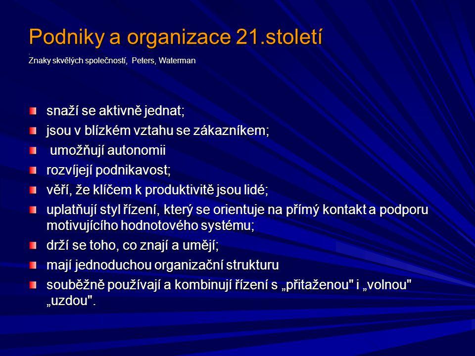 Podniky a organizace 21. století