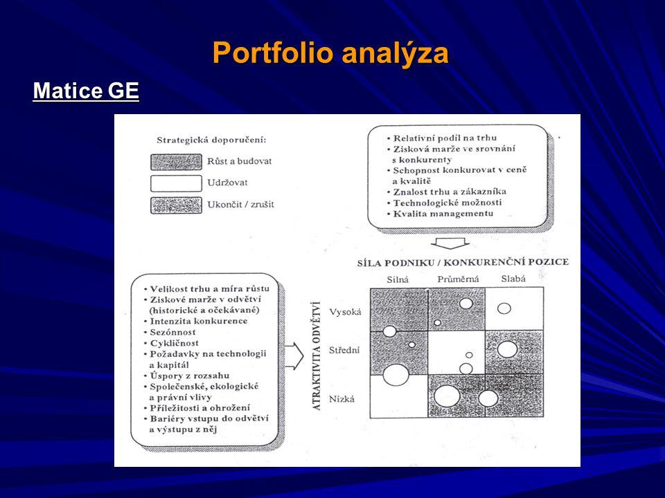 Portfolio analýza Matice GE