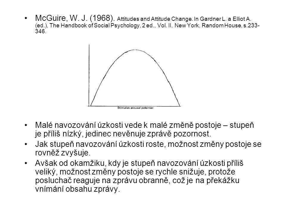 McGuire, W. J. (1968). Attitudes and Attitude Change. In Gardner L