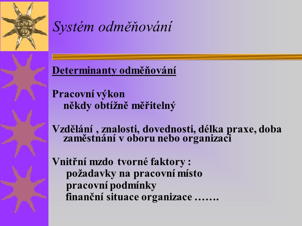 Systém odměňování