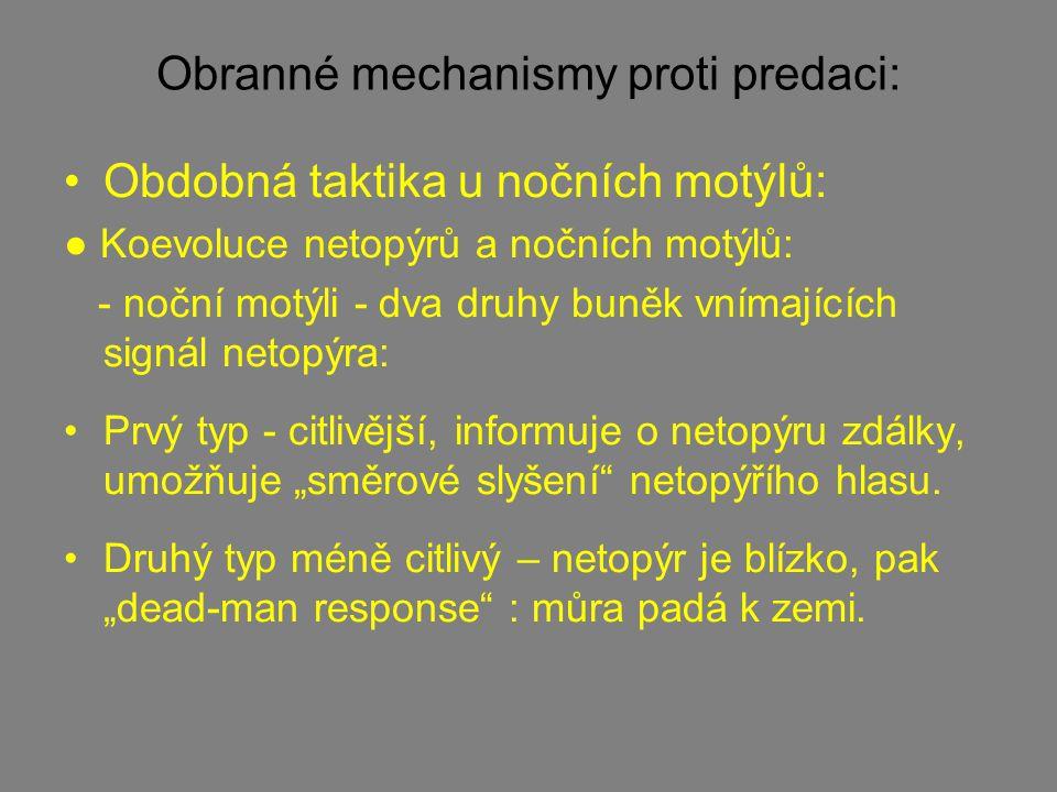 Obranné mechanismy proti predaci: