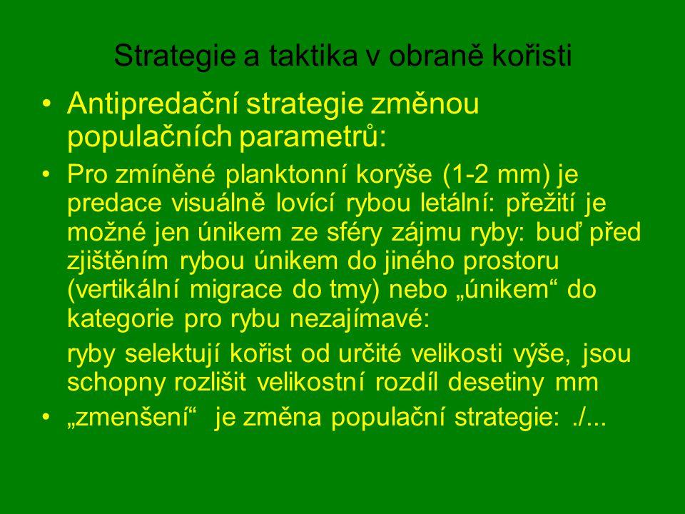 Strategie a taktika v obraně kořisti