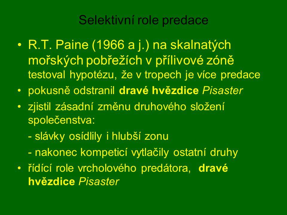 Selektivní role predace
