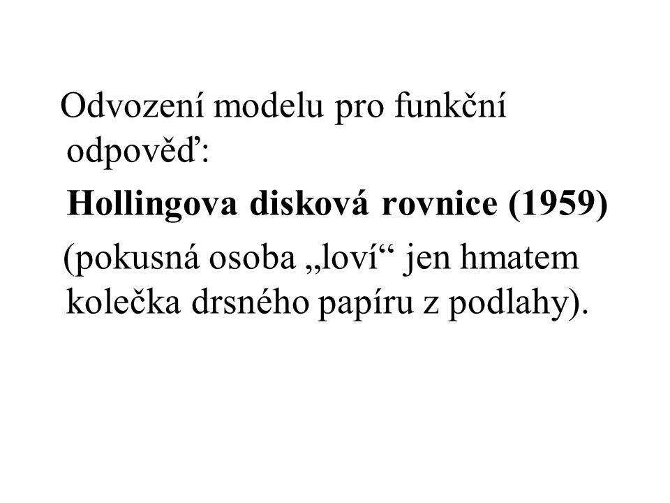 Odvození modelu pro funkční odpověď:
