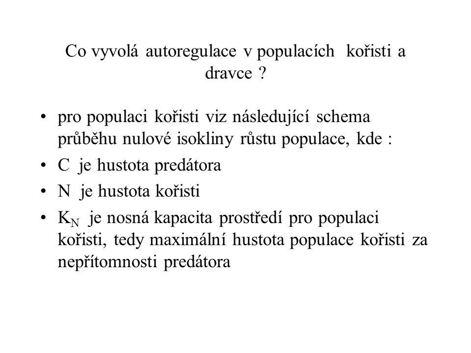 Co vyvolá autoregulace v populacích kořisti a dravce
